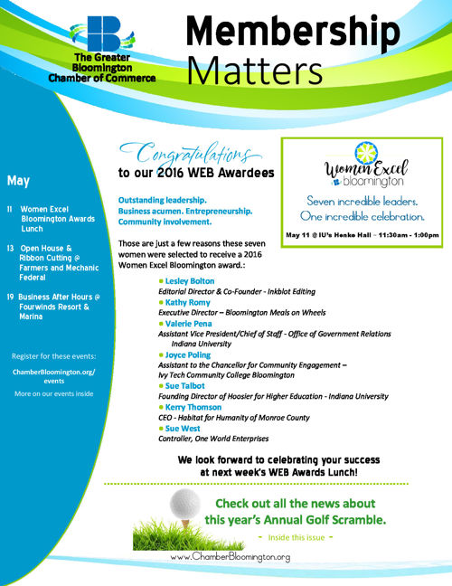 It's the May 6th Issue of Membership Matters