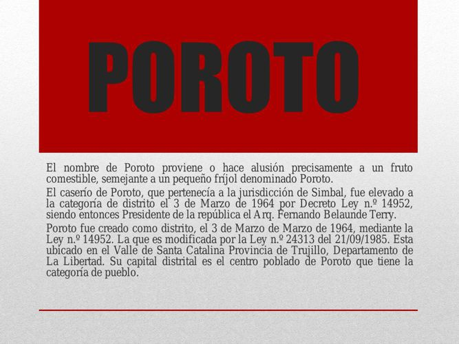 POROTO