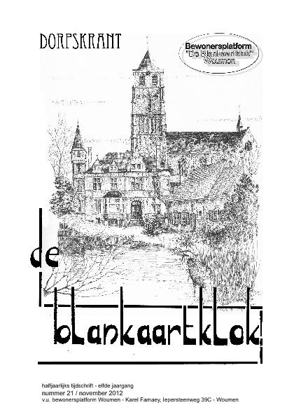 De Blankaartklok - nr. 21