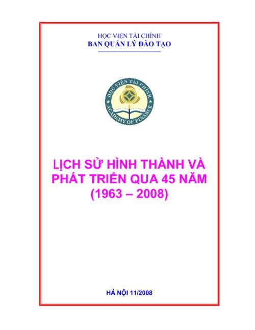 Lich su Ban Quan ly dao tao - Hoc vien Tai chinh