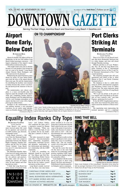 Downtown Gazette  |  November 30, 2012