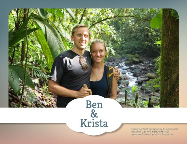Ben and Krista's Adoptive Family Profile