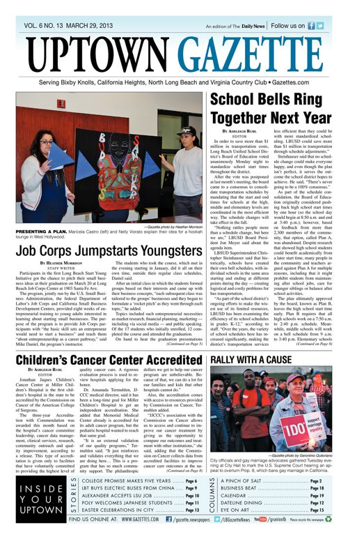 Uptown Gazette     March 29, 2013