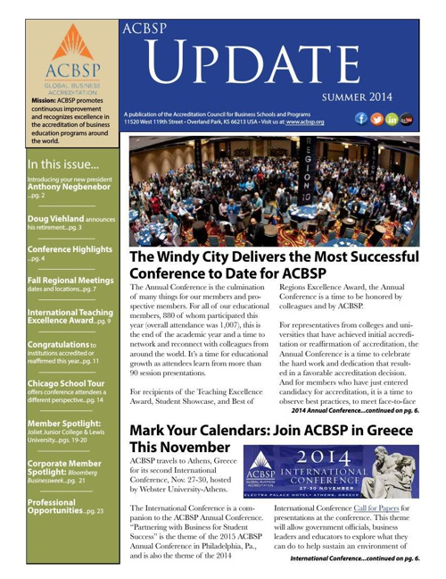 ACBSP Update Summer 2014