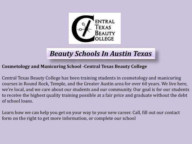 Beauty Schools In Austin Texas