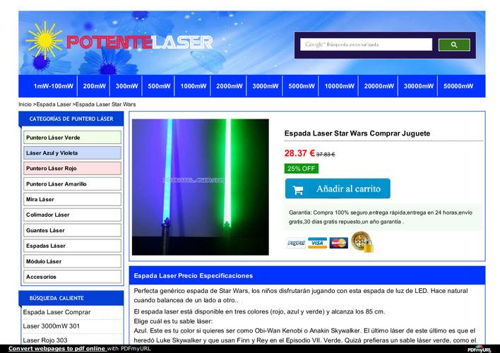 Espada Laser de Juguete