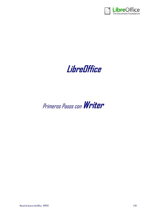 LibreOffice - Manual Usuario Writer