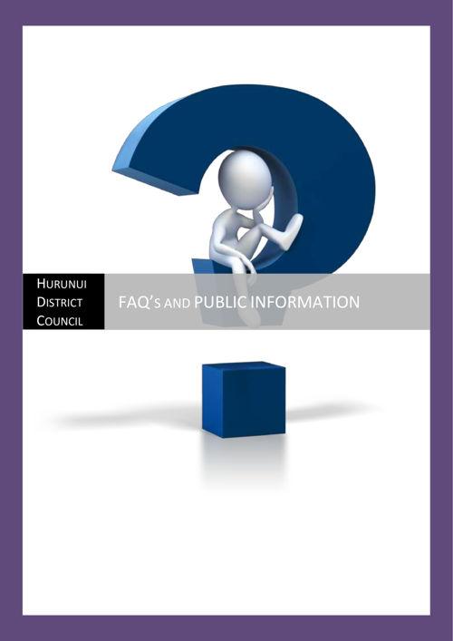 FAQ's and public info