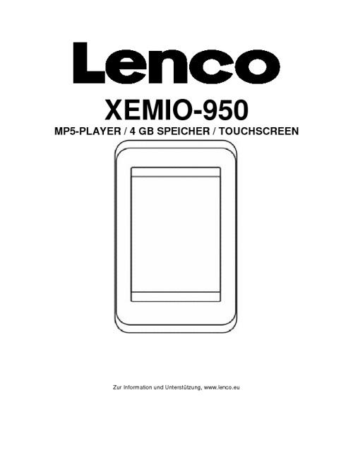 Lenco Benutzerhandbuch
