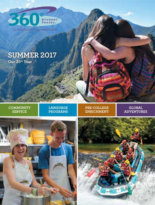 360 Student Travel Brochure