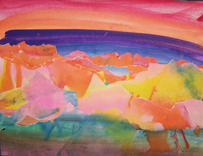 Copy of Grade Two  Georgia O'Keeffe Inspired Abstract Landscapes
