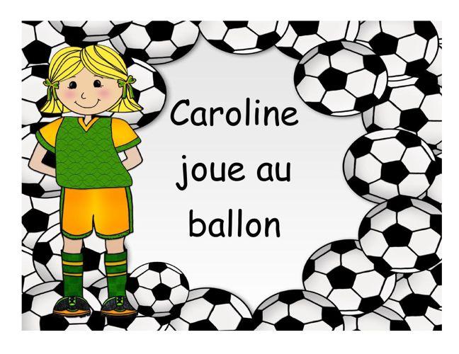 Caroline joue au ballon