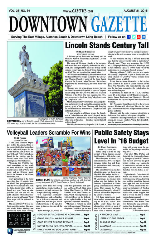 Downtown Gazette  |  August 21, 2015