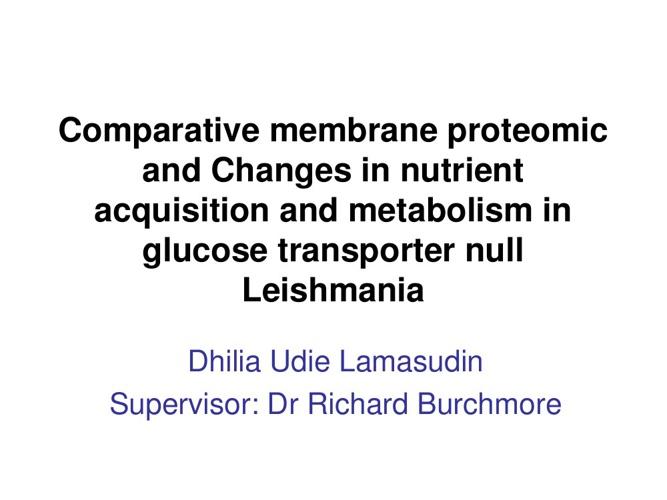 Proteomic Presentation