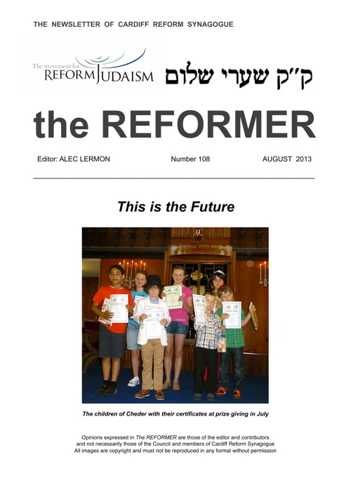 The Reformer August 2013 - No. 108