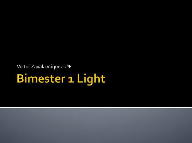 BIMESTER 1