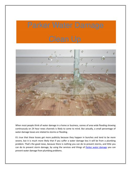 Parker Water Damage