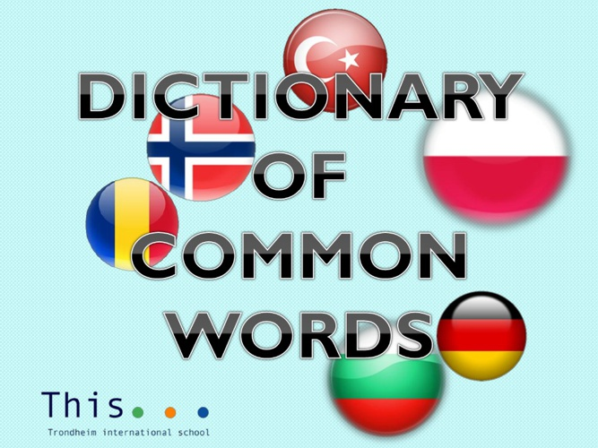 Comenius Dictionary - Trial 1