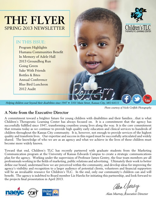 Children's TLC Spring 2013 Newsletter