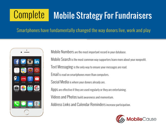 Complete Mobile Strategy for Fundraisers