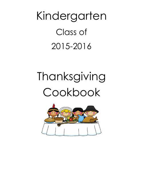 2015-2016 Kindergarten Thanksgiving Cookbook
