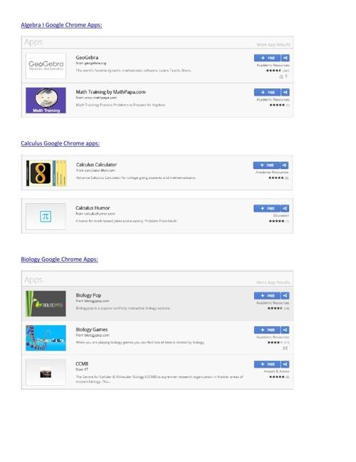 Educational Chrome Web Apps
