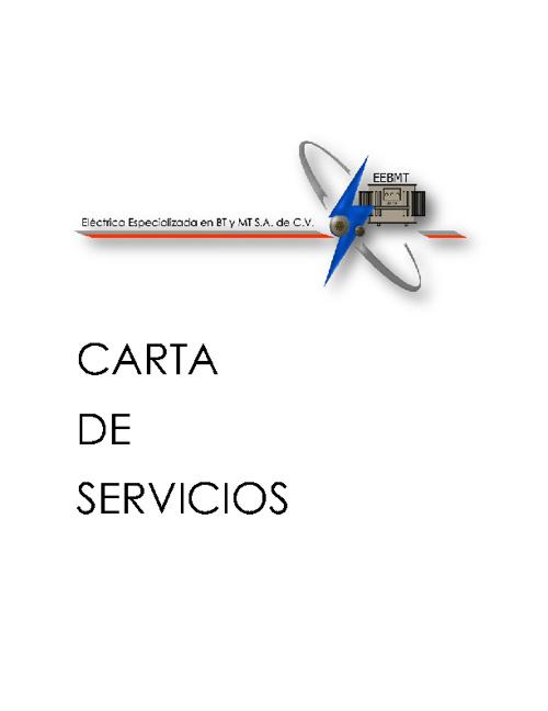 Carta Servicios Eléctrica Especializada en BT y MT S.A. de C.V.