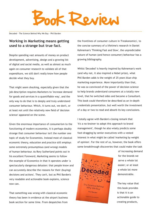 Book Review- Decoded: The Science Behind Why We Buy