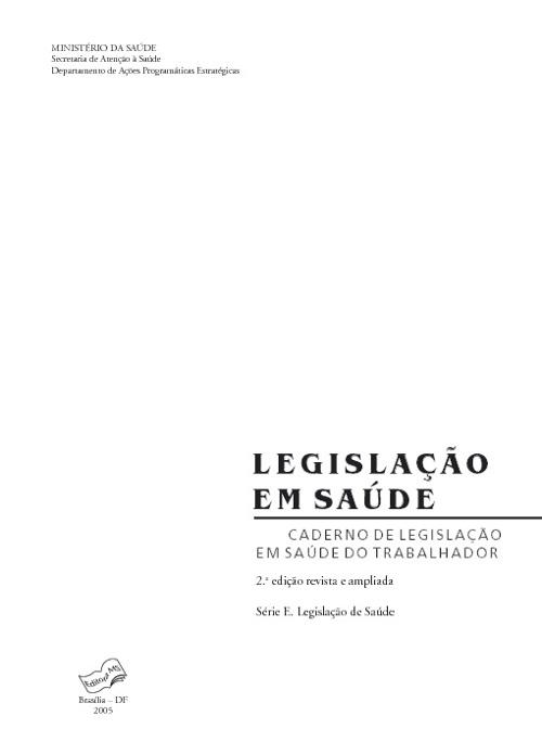 Legislação Saúde 1