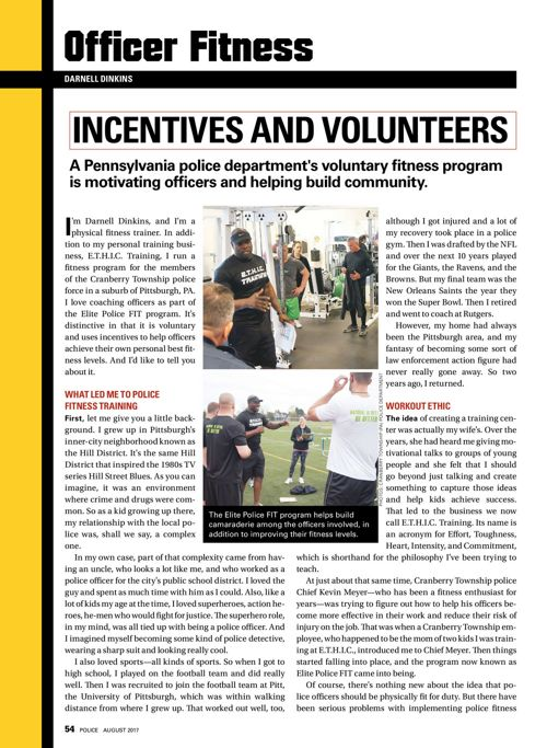 Police magazine Aug 2017 Incentives and Volunteers