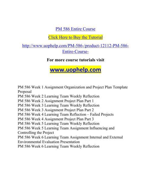 PM 586 Academic Coach/uophelp