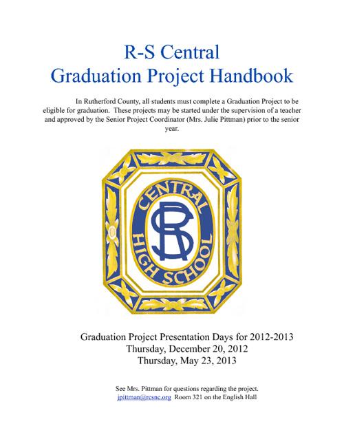 R-S Central Graduation Project Handbook