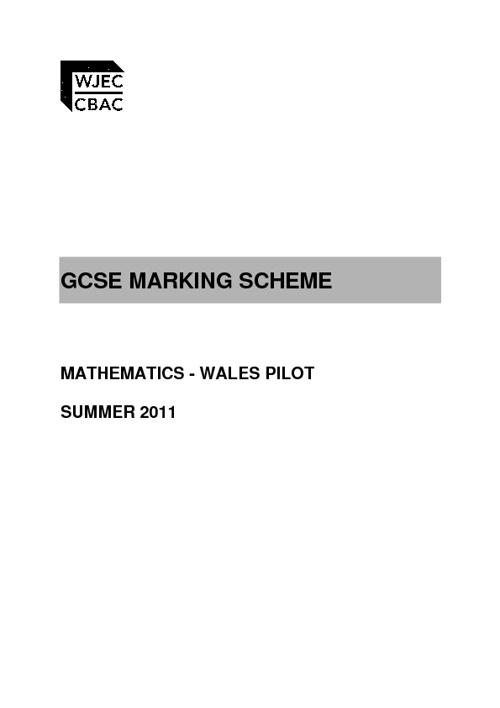 GCSE mark scheme