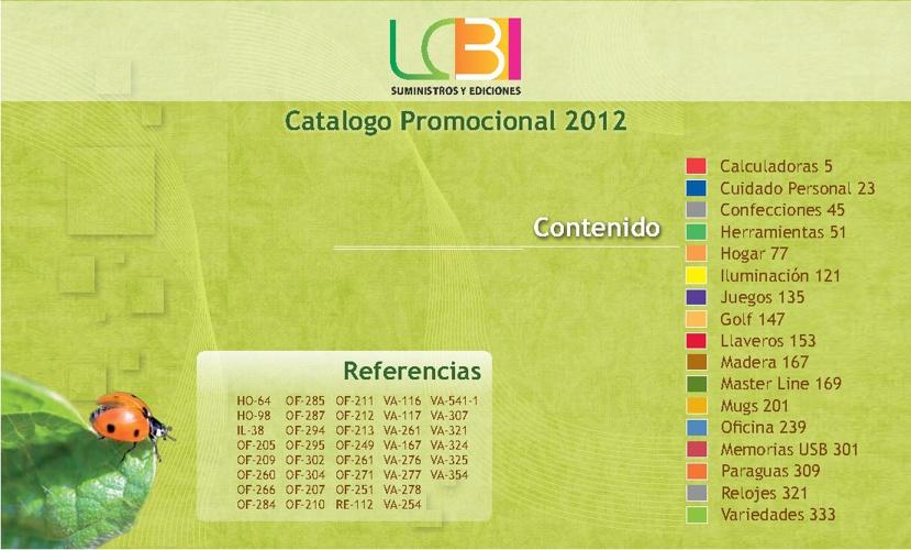LCB Catalogo 2012