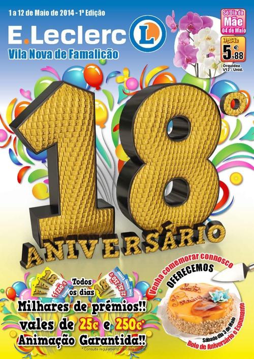 Folheto 18º Aniversário E.Leclerc V.N. de Famalicão