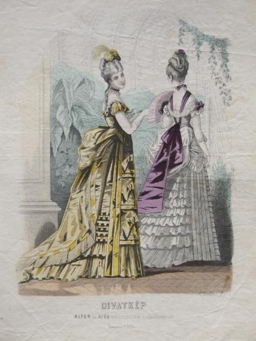 Alter és Kiss udvari szállítók női Divatterméből  1874-1875