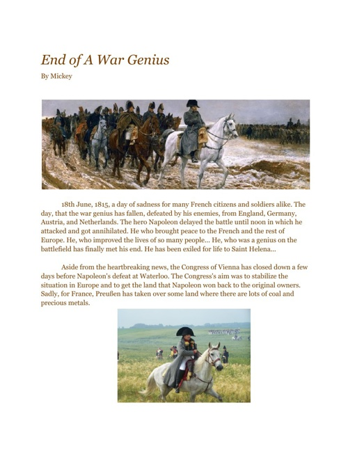 End of A War Genius