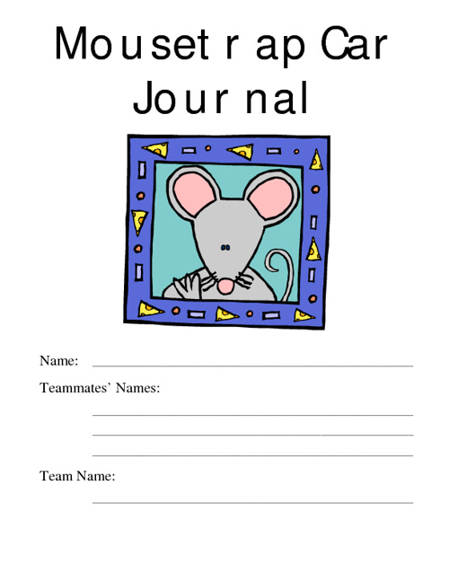Mousetrap Car Journal
