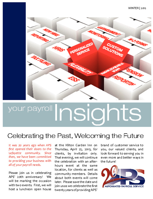 APS Newsletter 2012