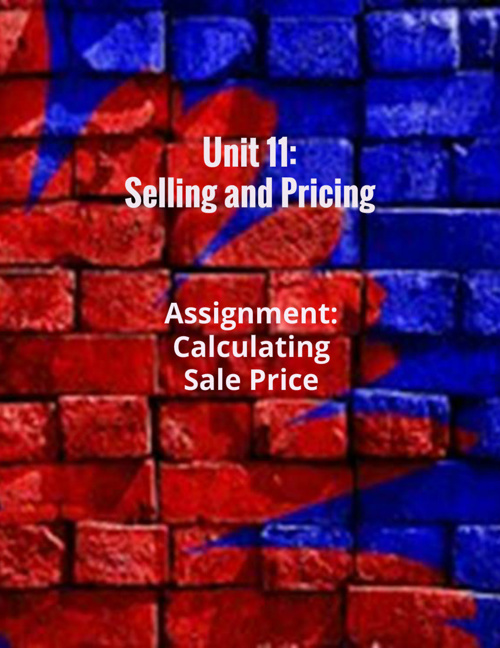 Unit 11: Selling and Pricing
