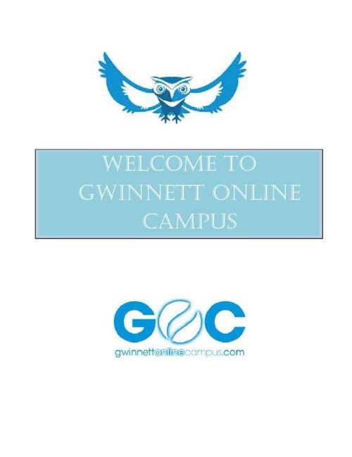 Welcome to Gwinnett Online Campus!