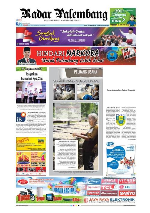 Radar Palembang Edisi 15-03-2013 Koran 1