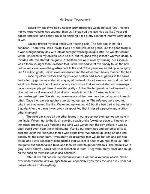 Middle School  Diaries: Yousuf Ismail Writing Portfolio