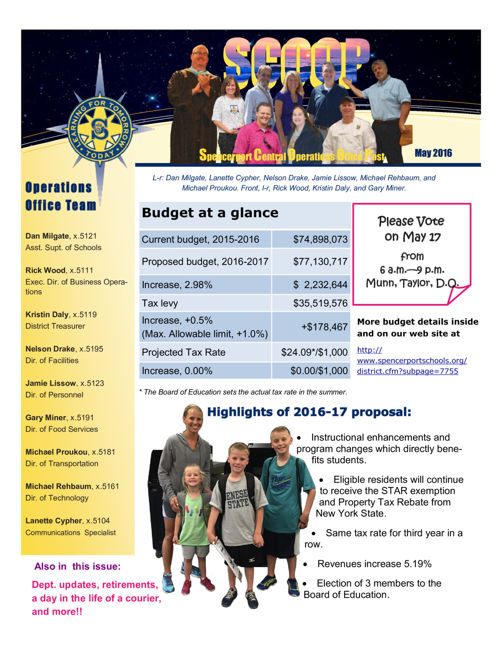 SCSD Scoop May 2016