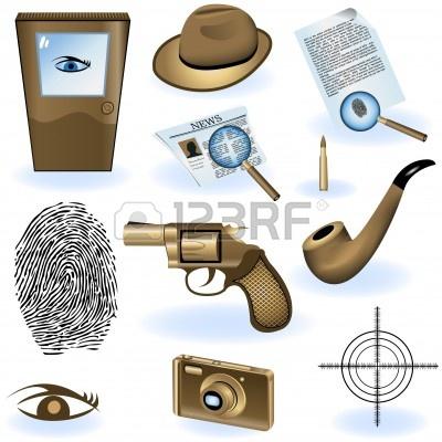 8903520-una-coleccion-de-iconos-de-diferentes-detective-privado