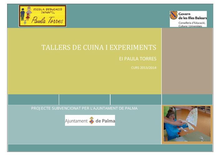 Tallers de cuina i experiments