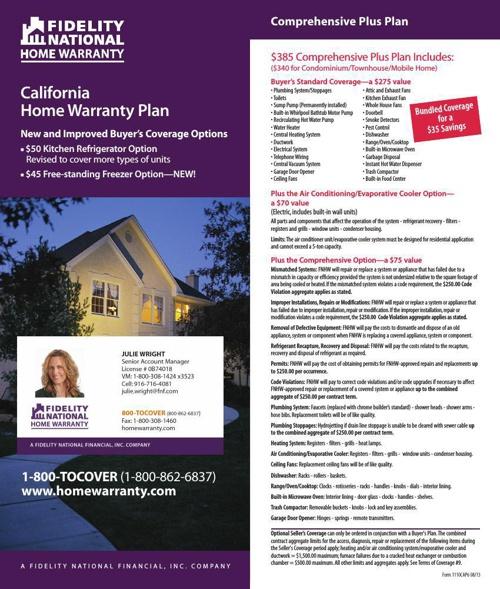 Fidelity National Home Warranty Brochure