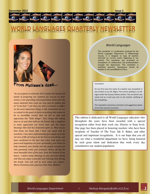 HIllsborough County Newsletter Issue 2