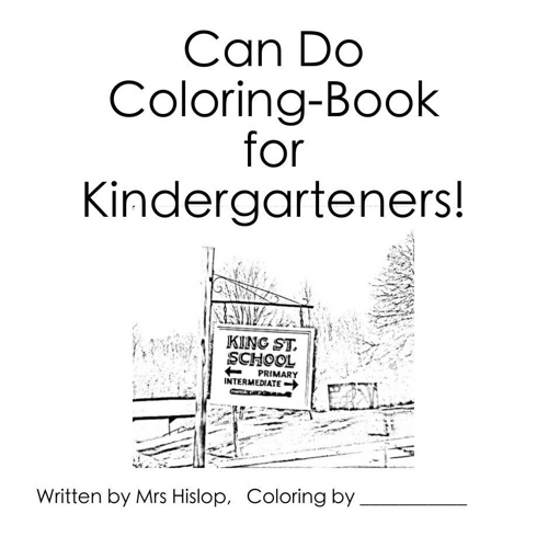 Can Do Coloring Book for Kindergarteners