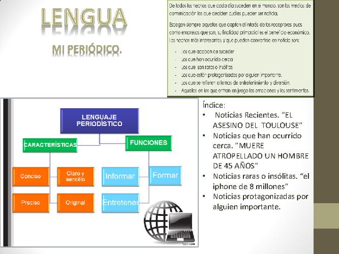 Periodismo Lengua Castellana